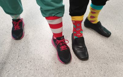 CALHN staff wear crazy socks for docs