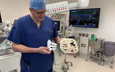 Australian-first 3D-printed polymer breastbone procedure