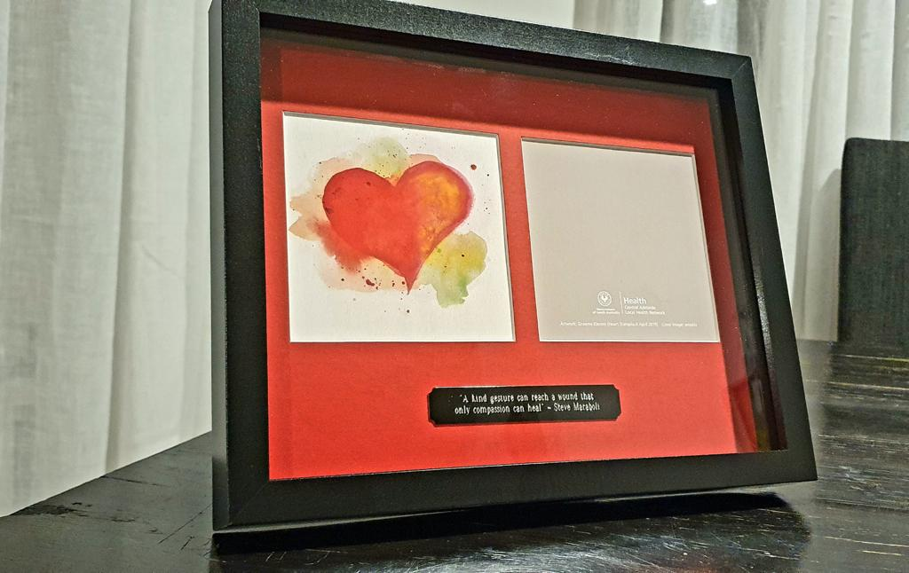 Card for patients comes from the heart