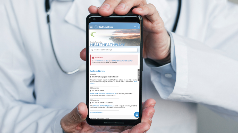 A new mobile-friendly re-design for HealthPathways SA
